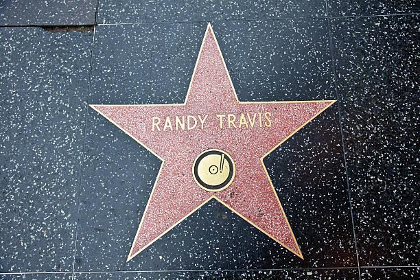 hollywood walk of fame star randy travis - randy travis stock-fotos und bilder