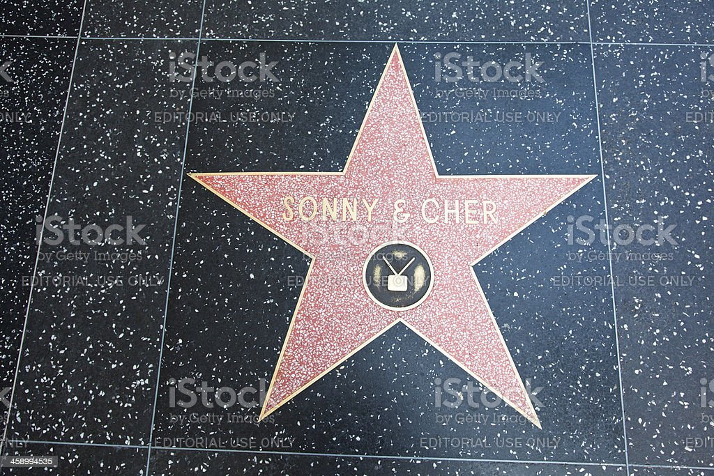 Hollywood Walk Of Fame Star Sonny & Cher royalty-free stock photo