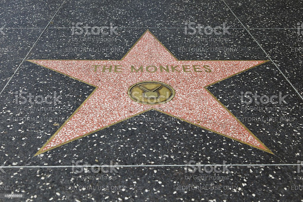Hollywood Walk of Fame Star The Monkees royalty-free stock photo