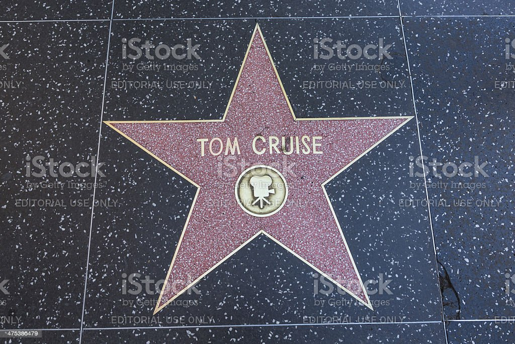 Hollywood Walk Of Fame Star Tom Cruise Stock Photo
