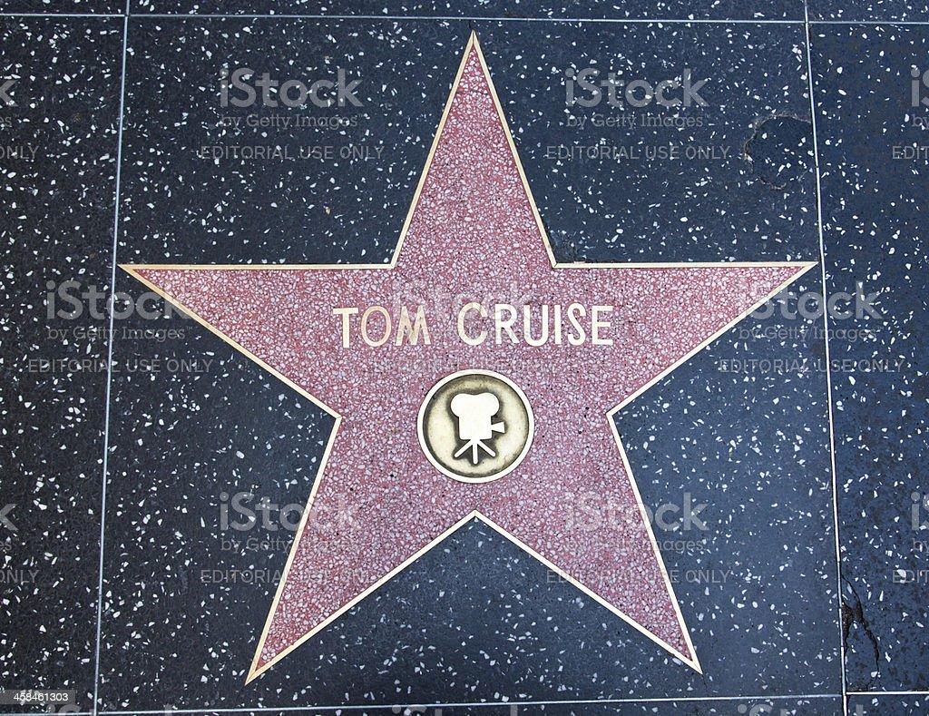 Hollywood Walk Of Fame Tom Cruise Star stock photo