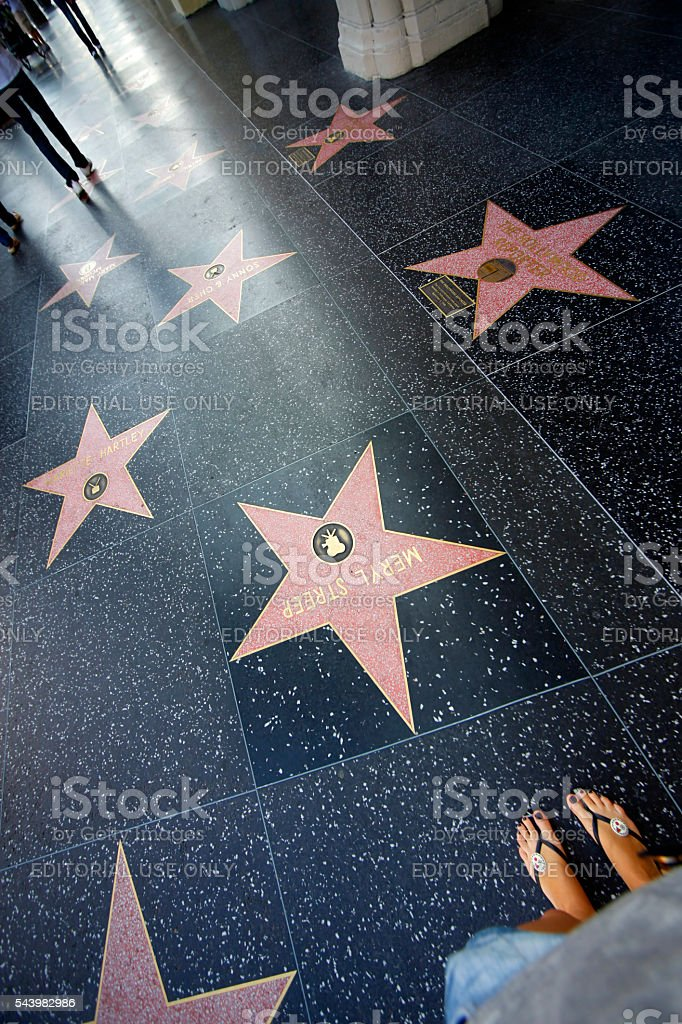 Hollywood Walk bildbanksfoto
