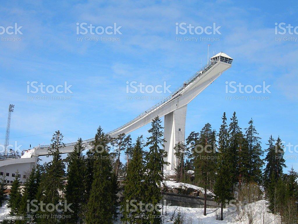 Holmenkollen stock photo