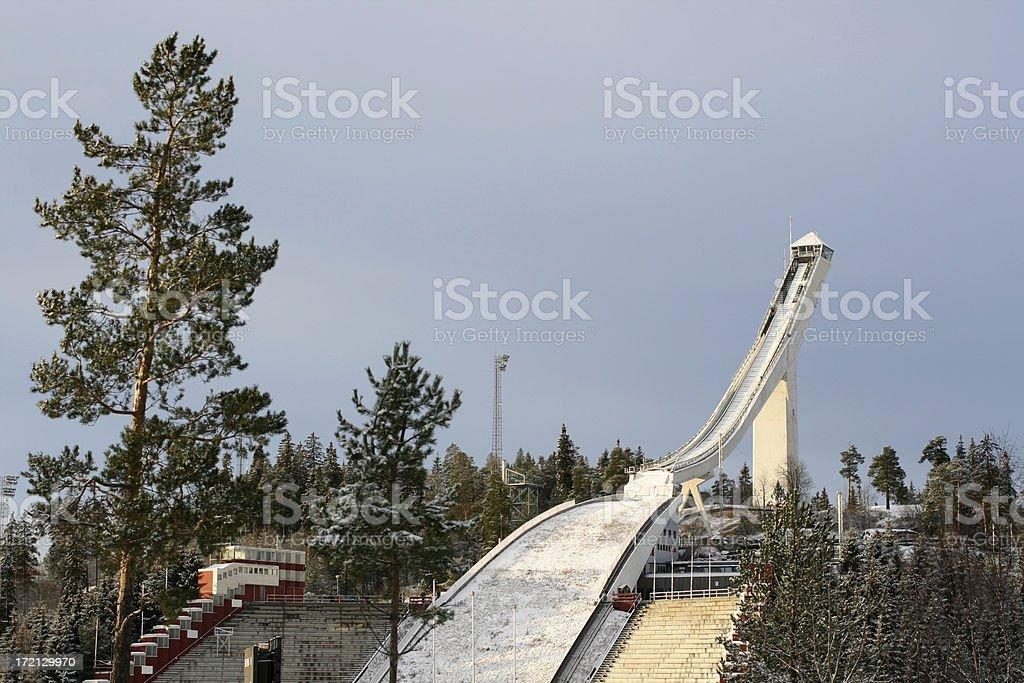 Holmenkollen Ski jump, Oslo Noway stock photo