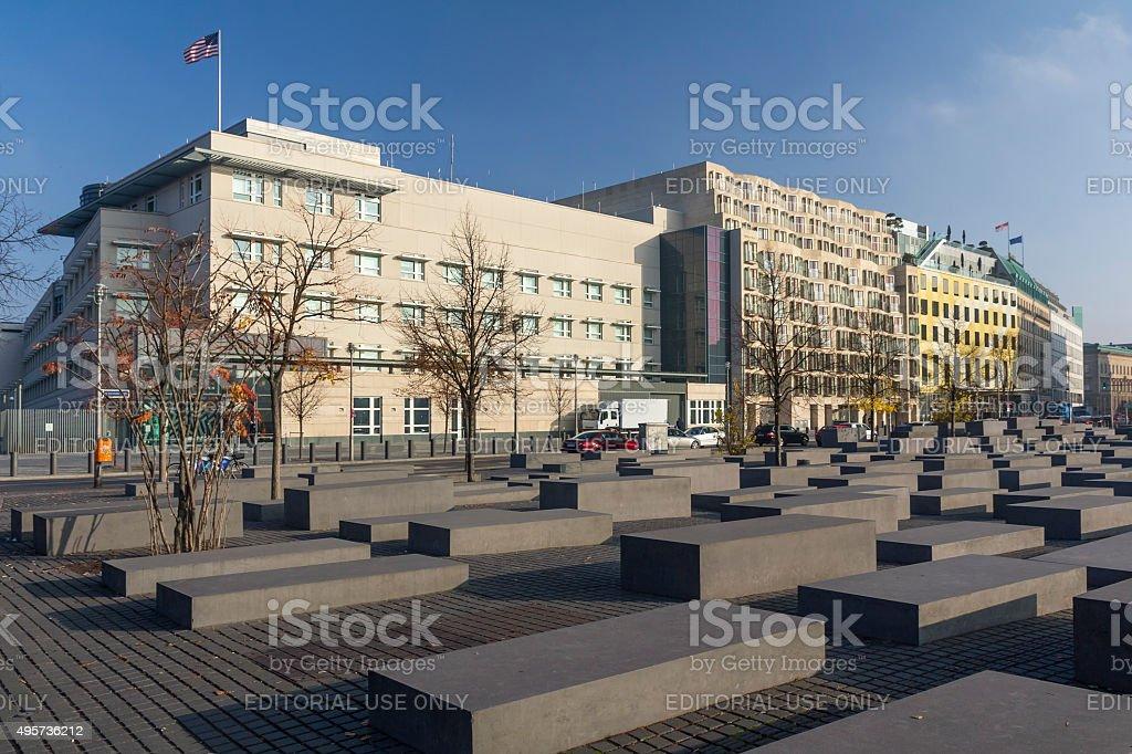 Holocaust Memorial, Berlin, Germany stock photo