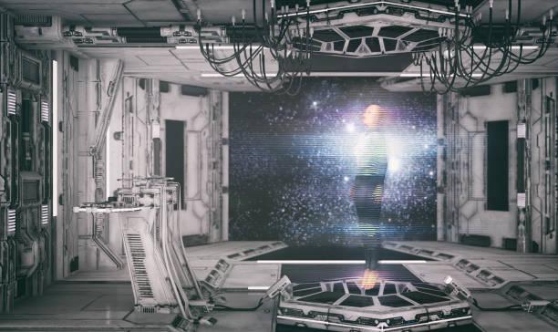 hologram projektion - teleport bildbanksfoton och bilder