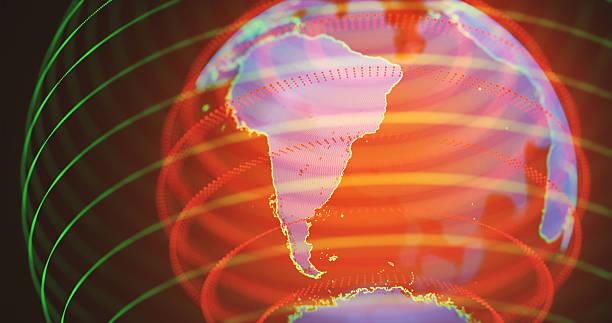 Hologram South America stock photo