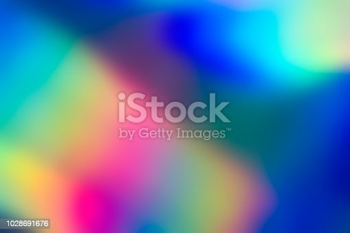 istock Holographic abstract spectrum vaporwave background pattern 1028691676