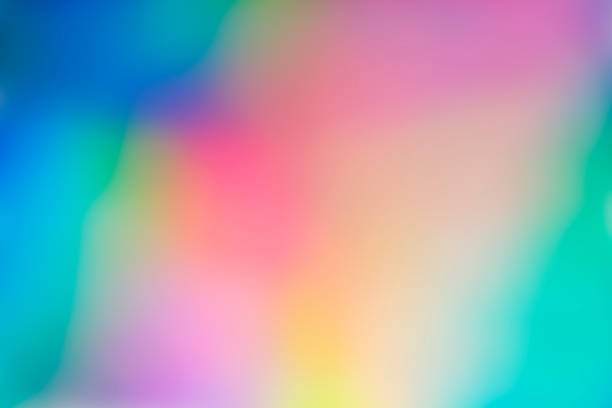holographic abstract spectrum vaporwave background pattern - hologram stock photos and pictures