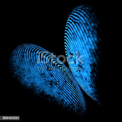 istock Holographic Fingerprint Butterfly Shape 906464534