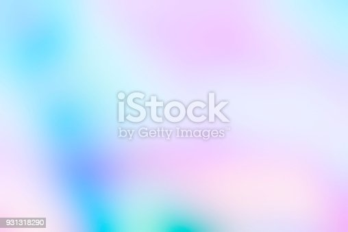 1007273724 istock photo Holographic foil blurred abstract background in pastel neon trendy color design 931318290