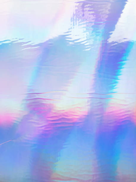 holographic iridescent background - hologram stock photos and pictures