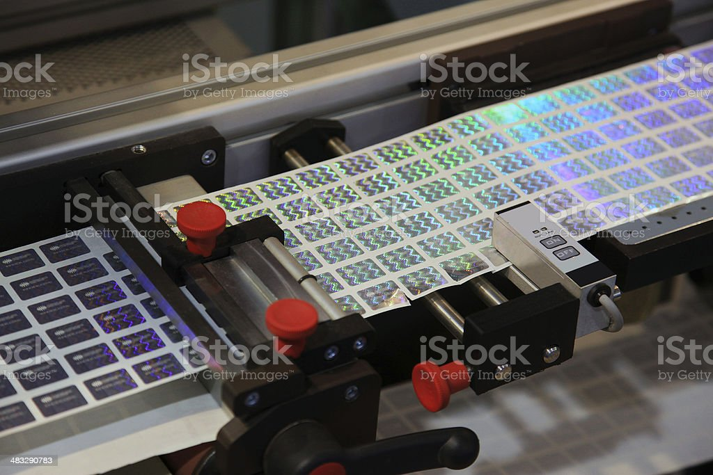 Holographic Labels stock photo