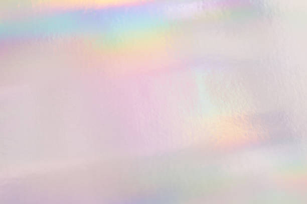 Holographic neon shiny background. Minimalist style, millennial colors. stock photo