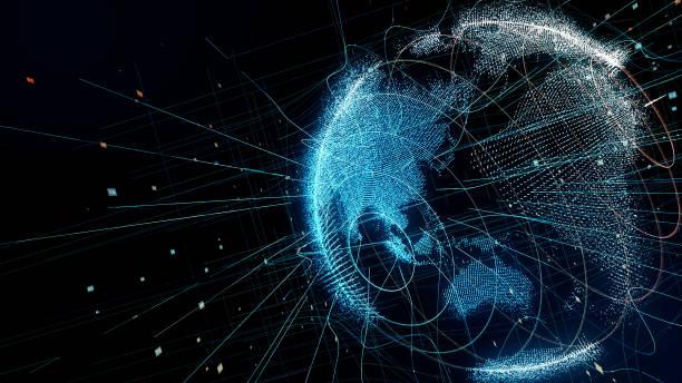 全息行星地球。技術背景。 - 亞太地區 個照片及圖片檔
