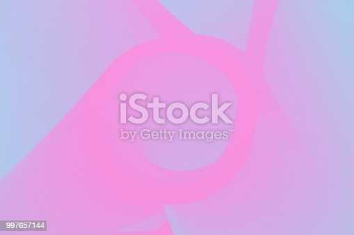 istock Holographic Turquoise Pink gradient neon background. Wallpaper 997657144