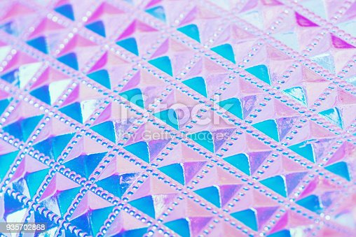 istock Holographic ultraviolet creative geometric background 935702868