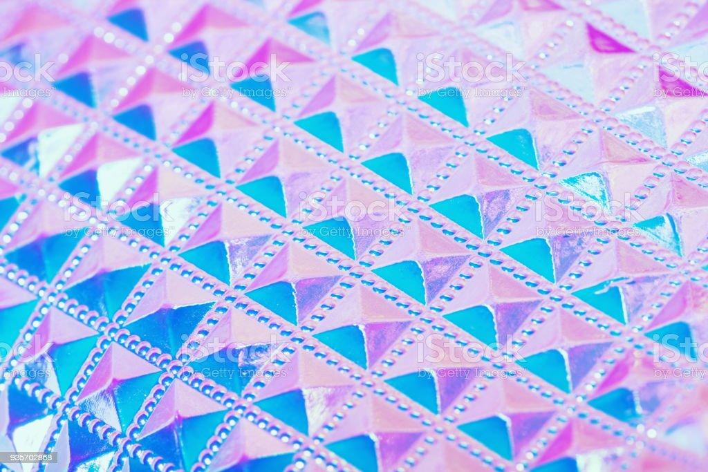 Holographic ultraviolet creative geometric background stock photo