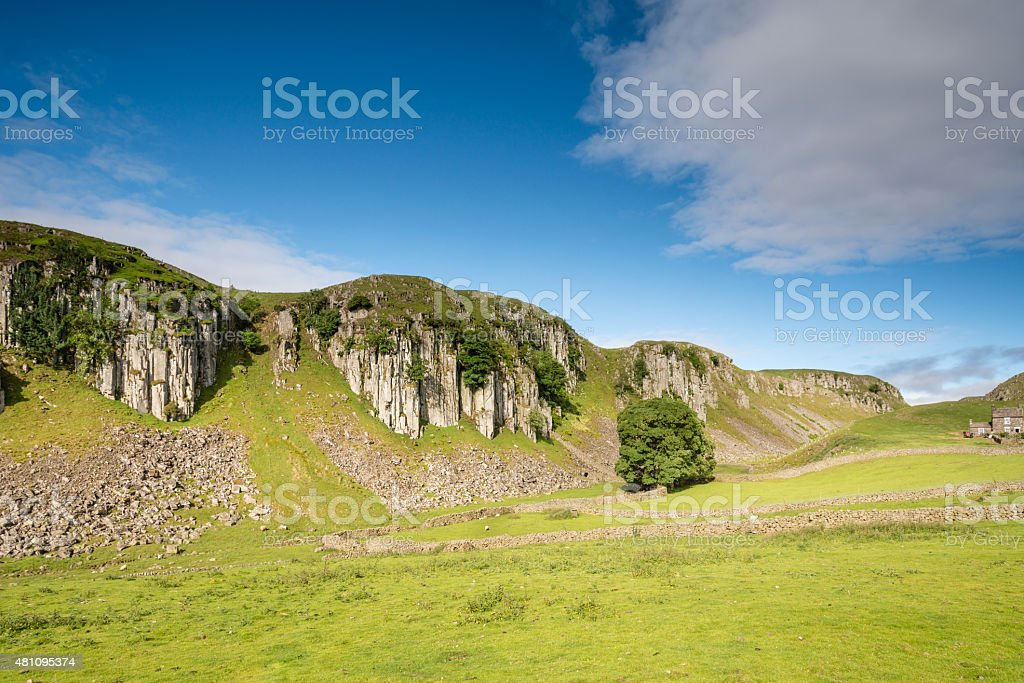 Holwick Scar Escarpment stock photo
