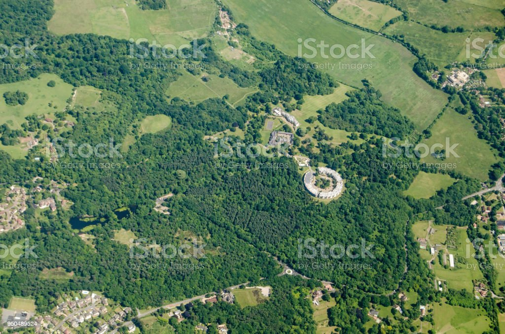 Holwood Estate, Keston  - Aerial View stock photo