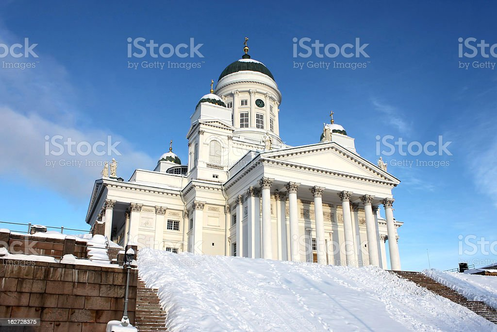 Holy and white tuomiokirkko royalty-free stock photo