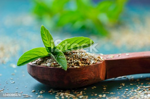 holy basil or tulsi leaves powder