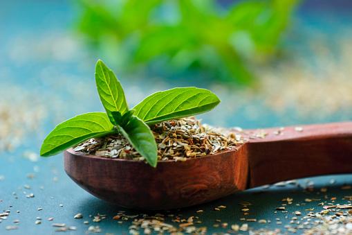 holy basil or tulsi leaves powder