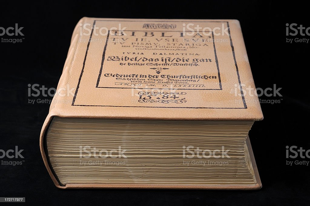 Holy Bible Closed Ancient stock photo