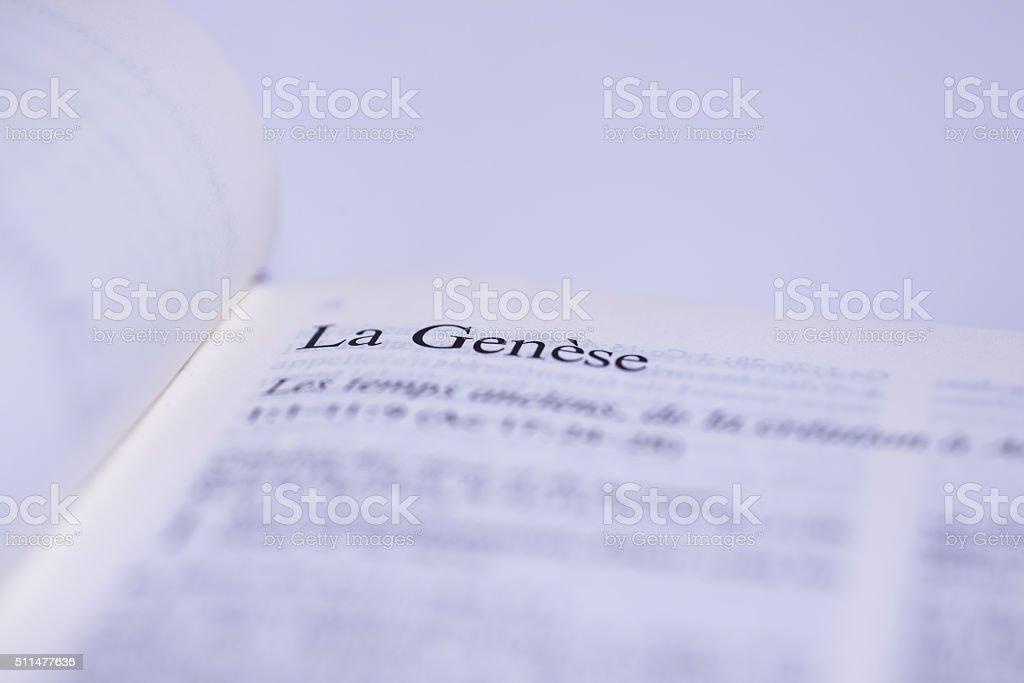 Holy Bible Closeup stock photo