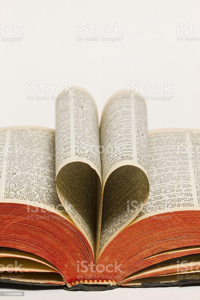 Holy Bible Heart royalty-free stock photo