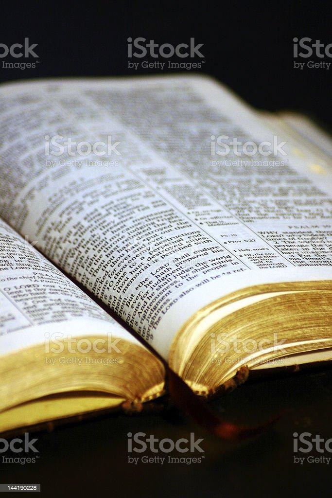 Holy Bible KJV royalty-free stock photo