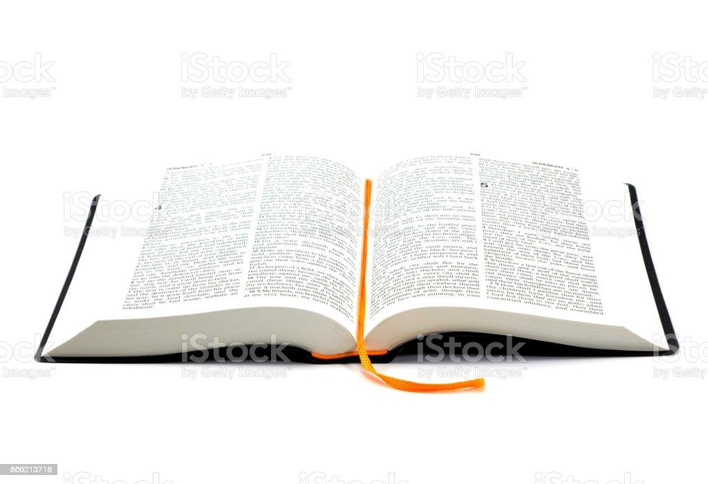 Sainte Bible sur fond blanc - Photo
