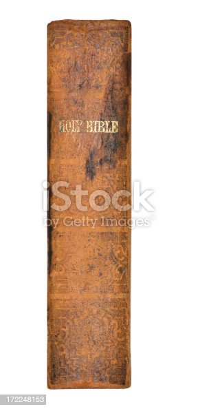 istock Holy Bible Printed 1863 Leather Cover 172248153