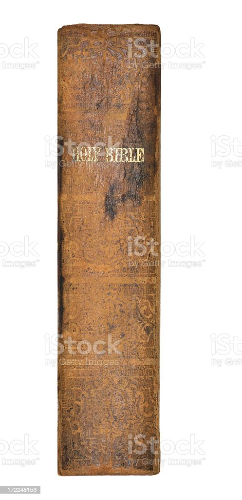 Holy Bible Printed 1863 Leather Cover stock photo