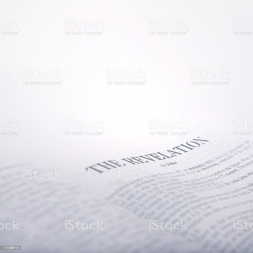 Holy Bible The Revelation royalty-free stock photo