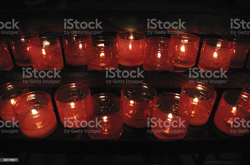 Holy candles stock photo