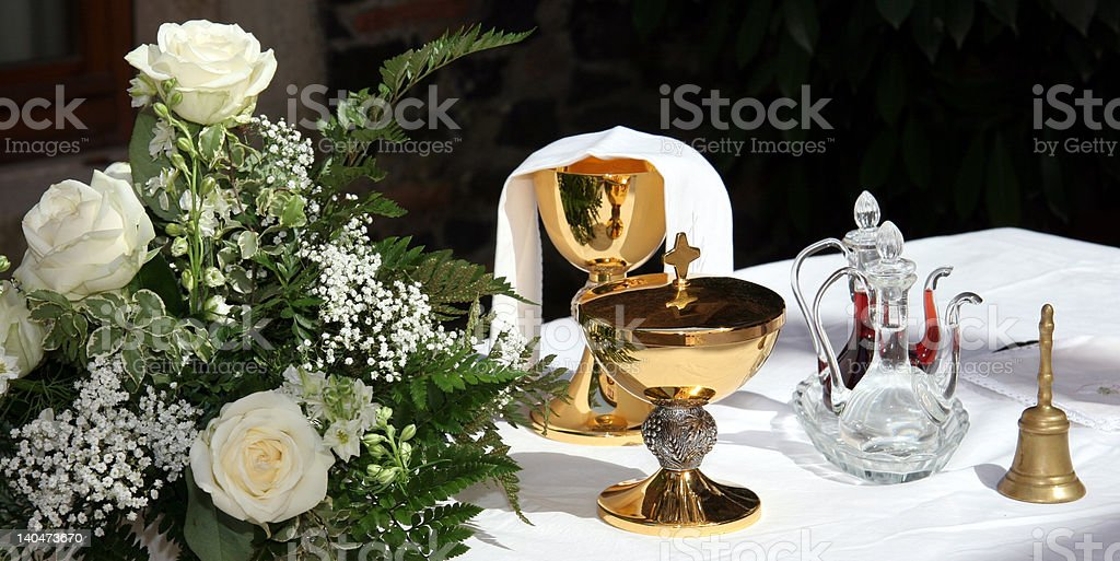 Holy chalice royalty-free stock photo