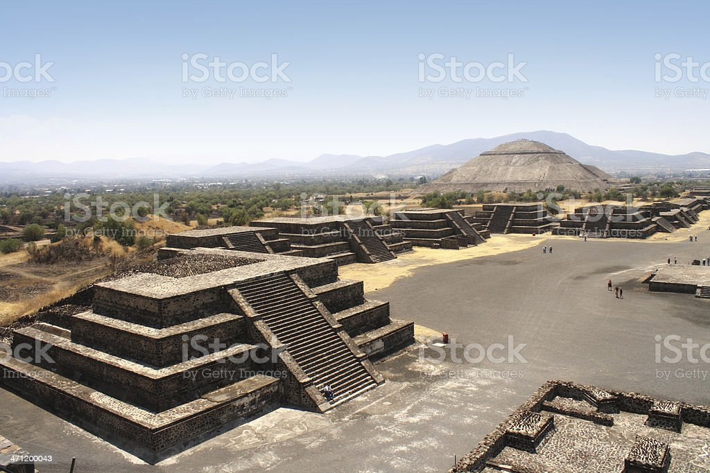 Holy city of Teotihuacan, located in the valley of Mexico royalty-free stock photo