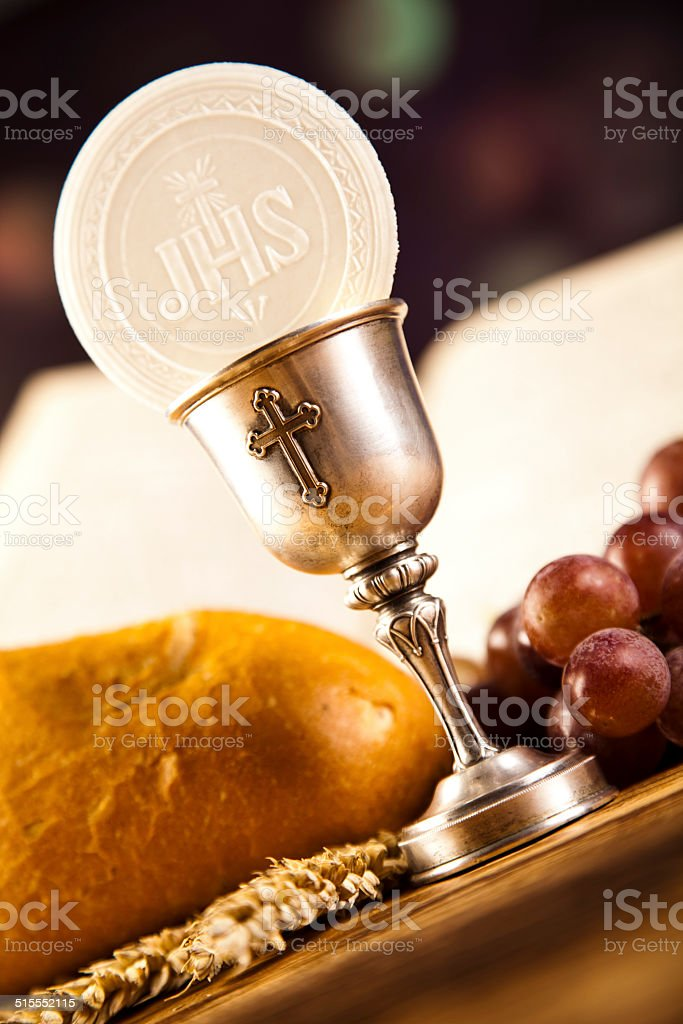 holy communion bread wine stock photo more pictures of bible istock