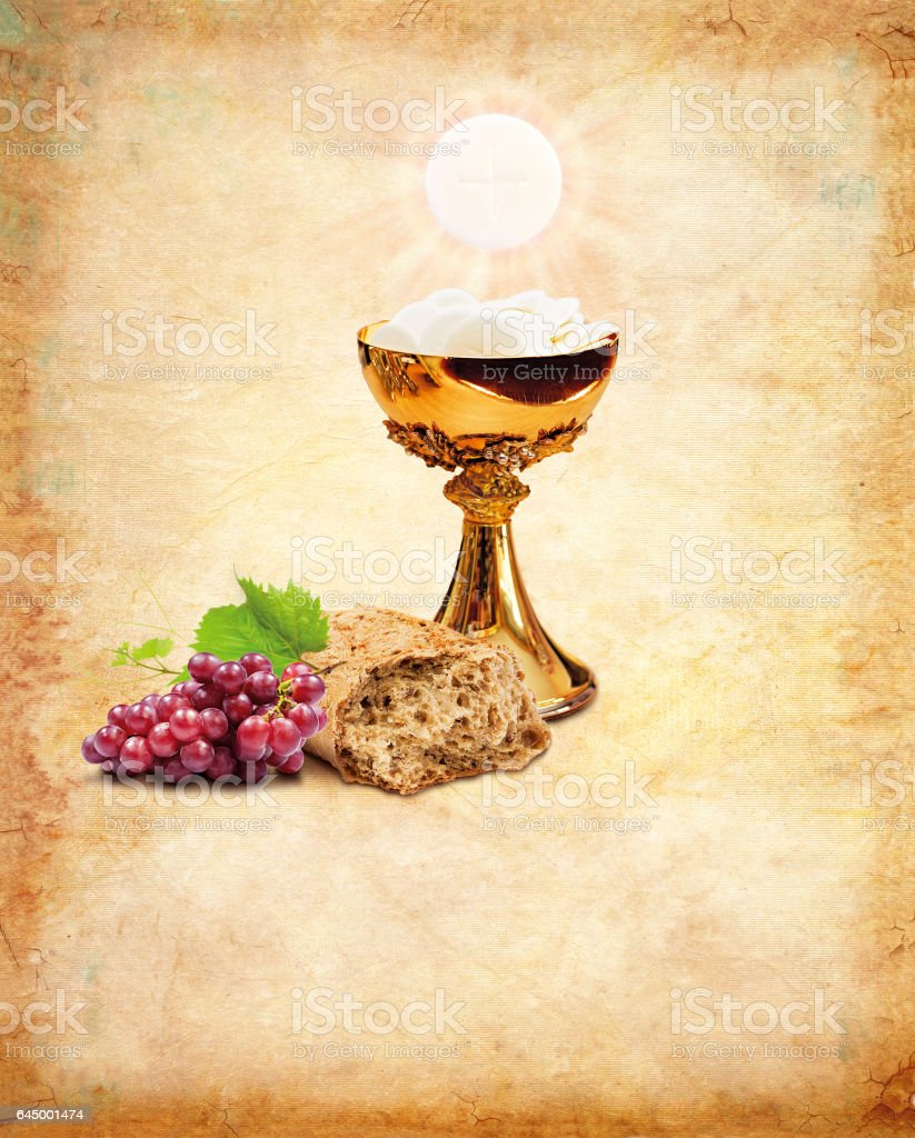Holy communion for christianity religion. Holy Communion composition stock photo