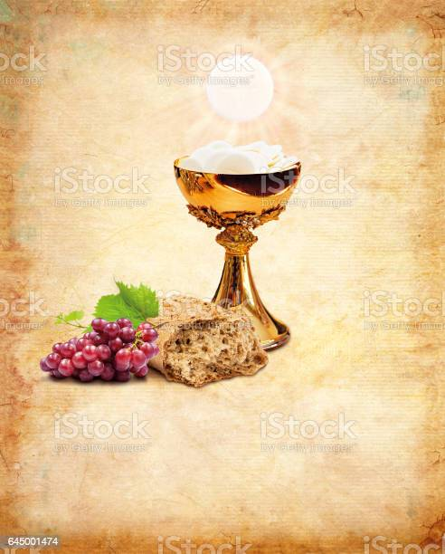 Holy communion for christianity religion. Holy Communion composition