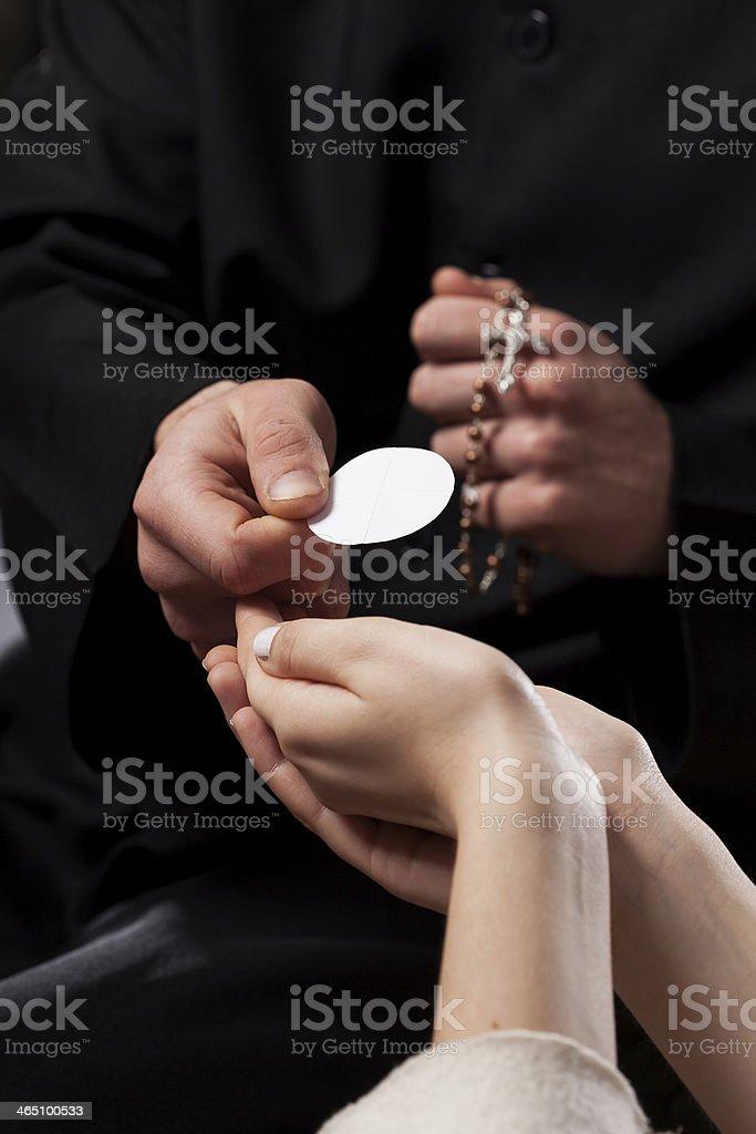 Holy Communion stock photo