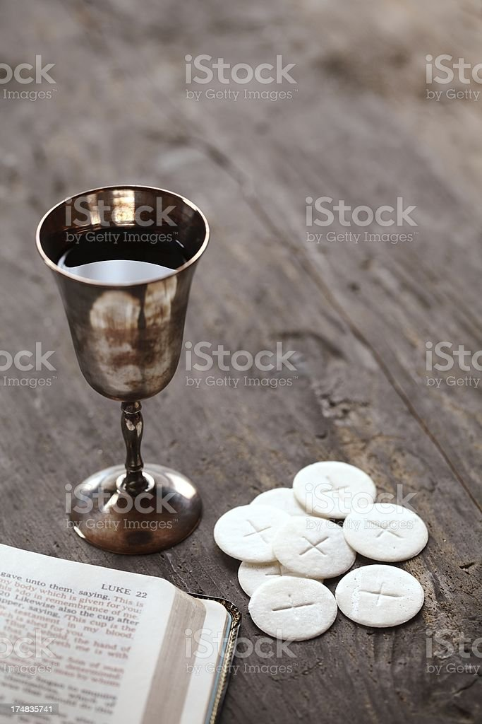 Holy communion still life stock photo