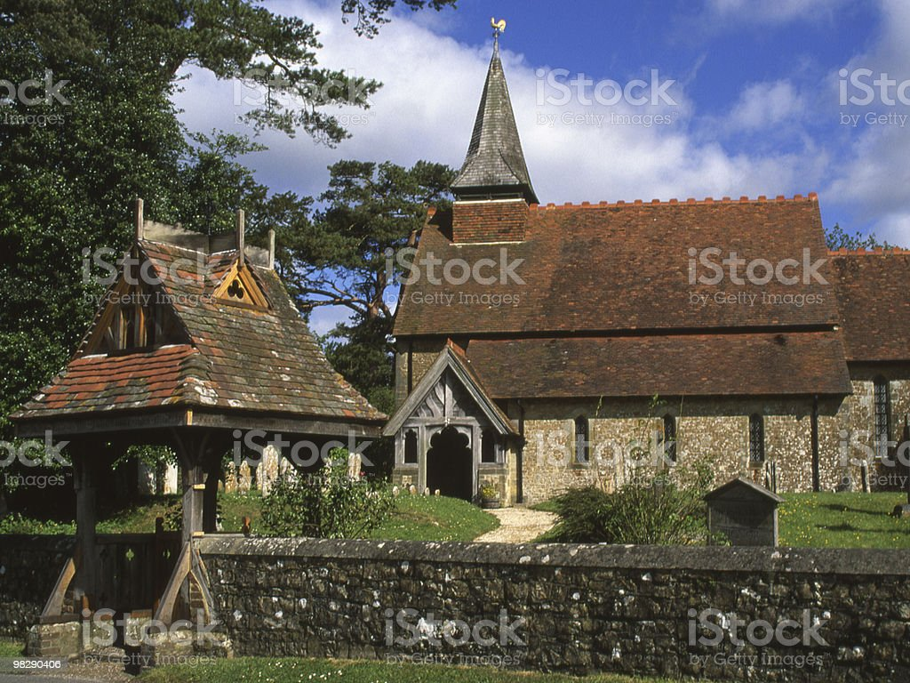 Holy Cross Church. Bignor. West Sussex. England royalty-free stock photo