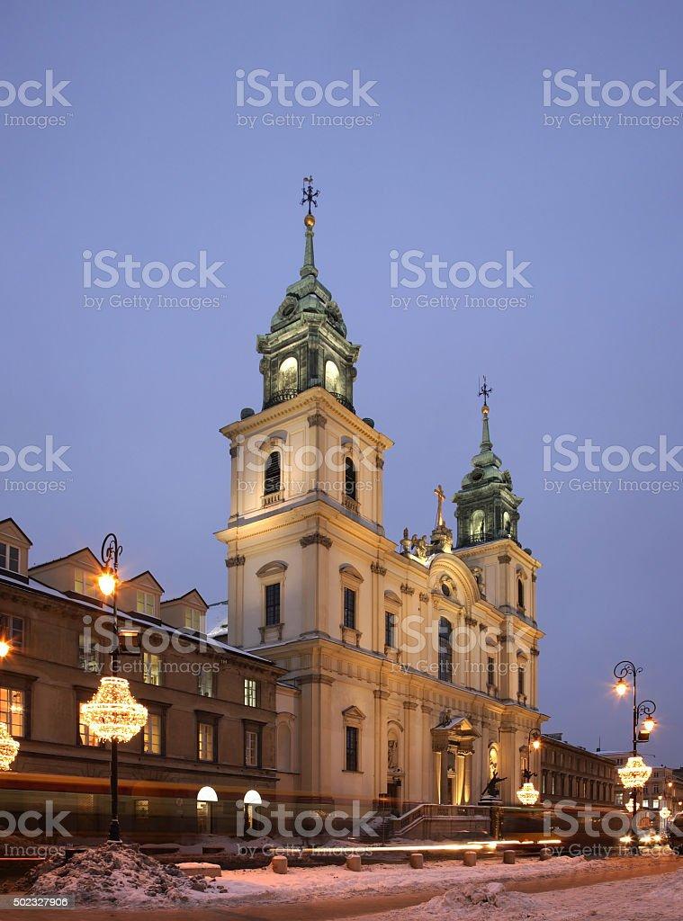 Holy Cross Church. Nowy Swiat (New World) street. Warsaw. Poland stock photo