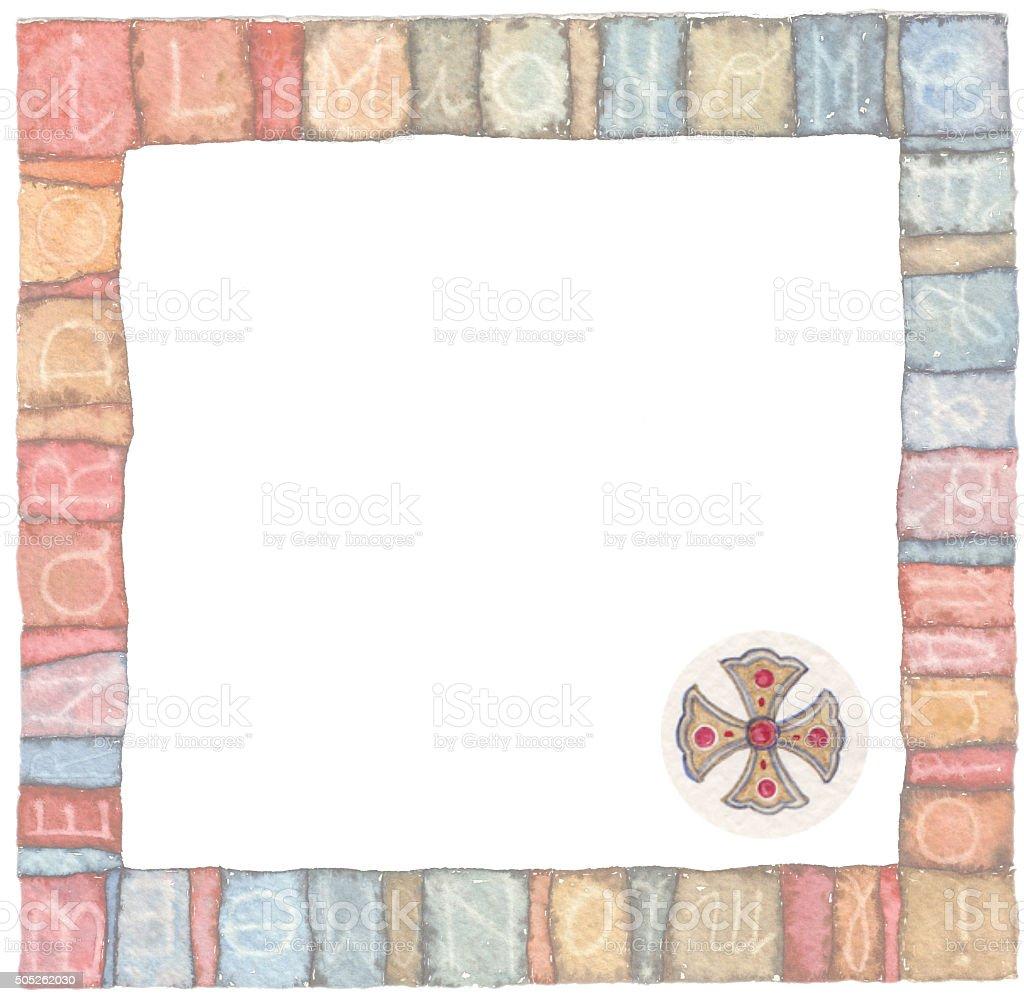 Holy Cross : logo idea Watercolor illustrations stock photo