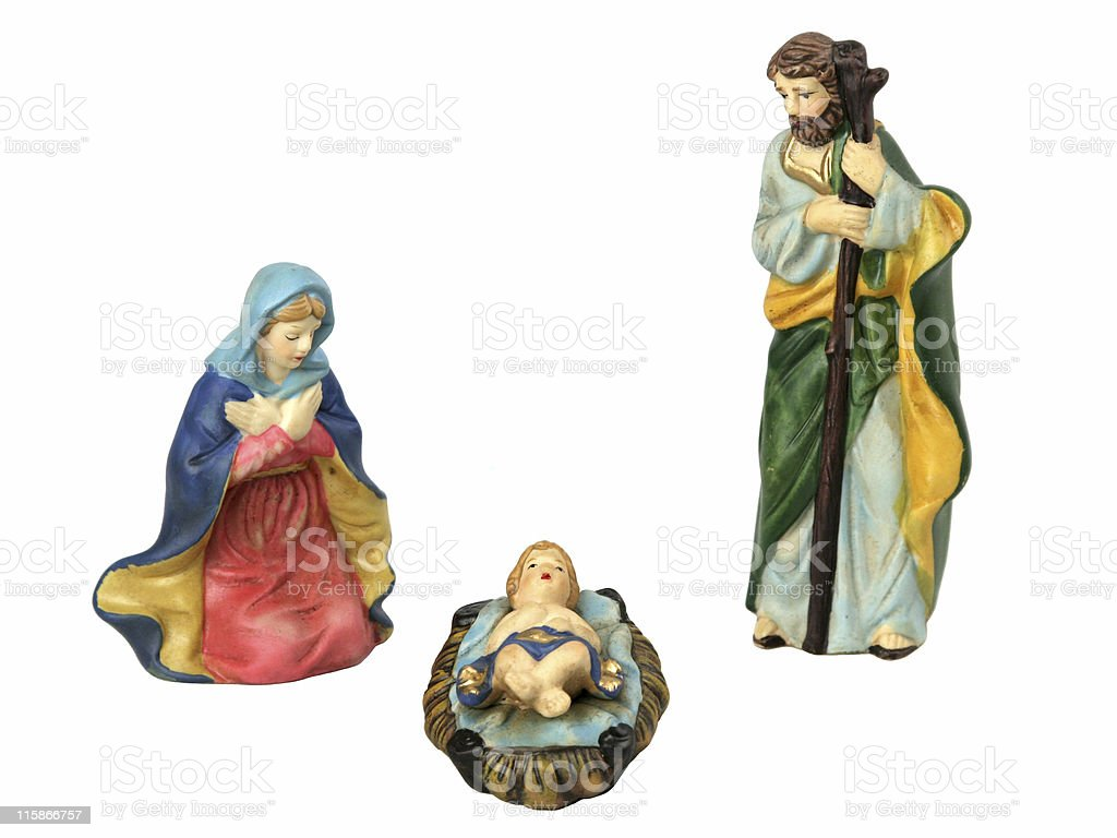 Holy Family Individually Isolated stock photo