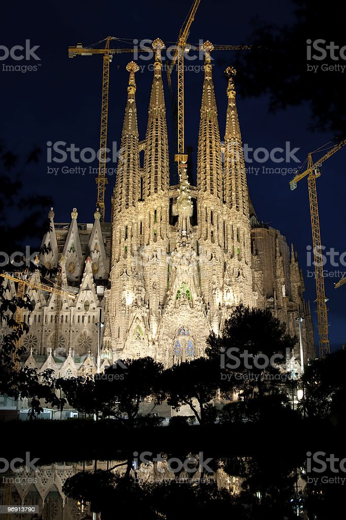 Sagrada Familia royalty-free stock photo