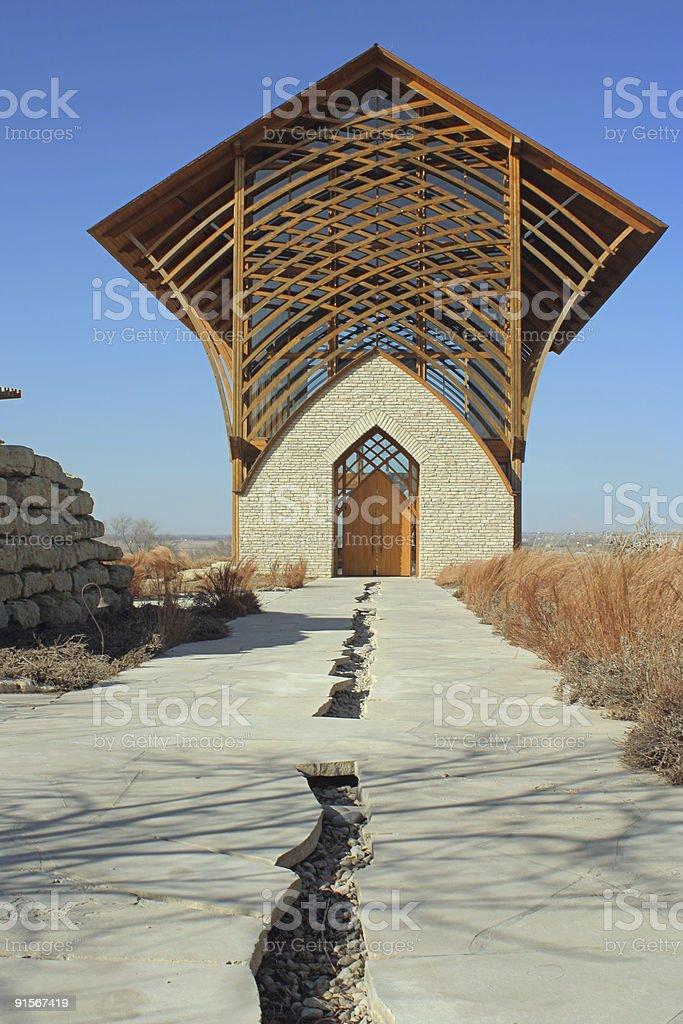 Holy Family Shrine stock photo
