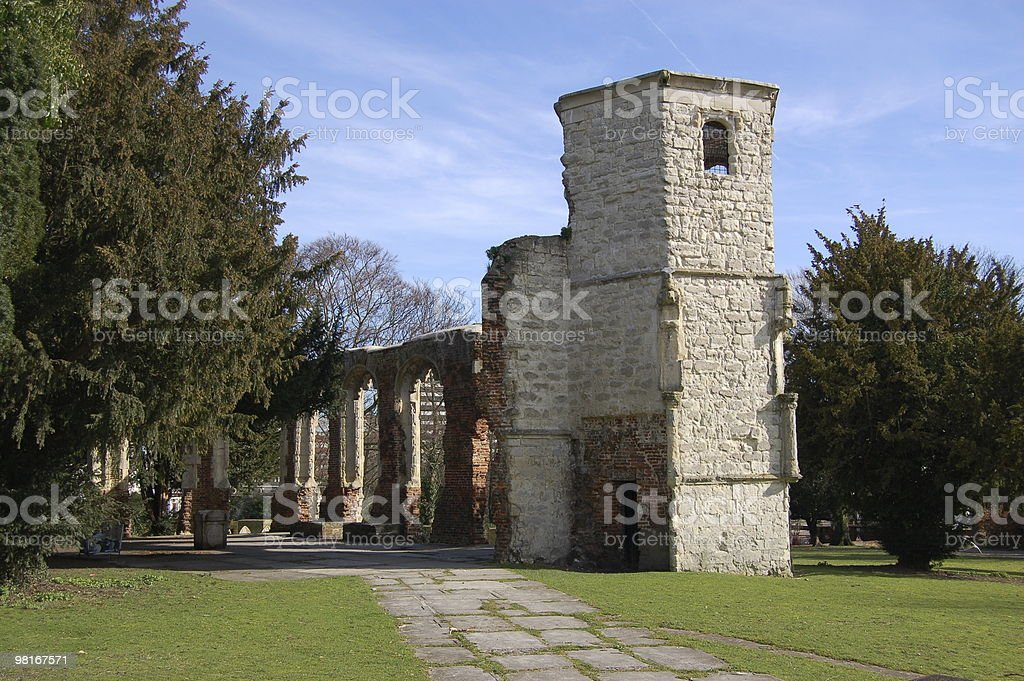Holy Ghost Chapel ruins, Basingstoke royalty-free stock photo